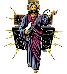guitar-christian-sticker